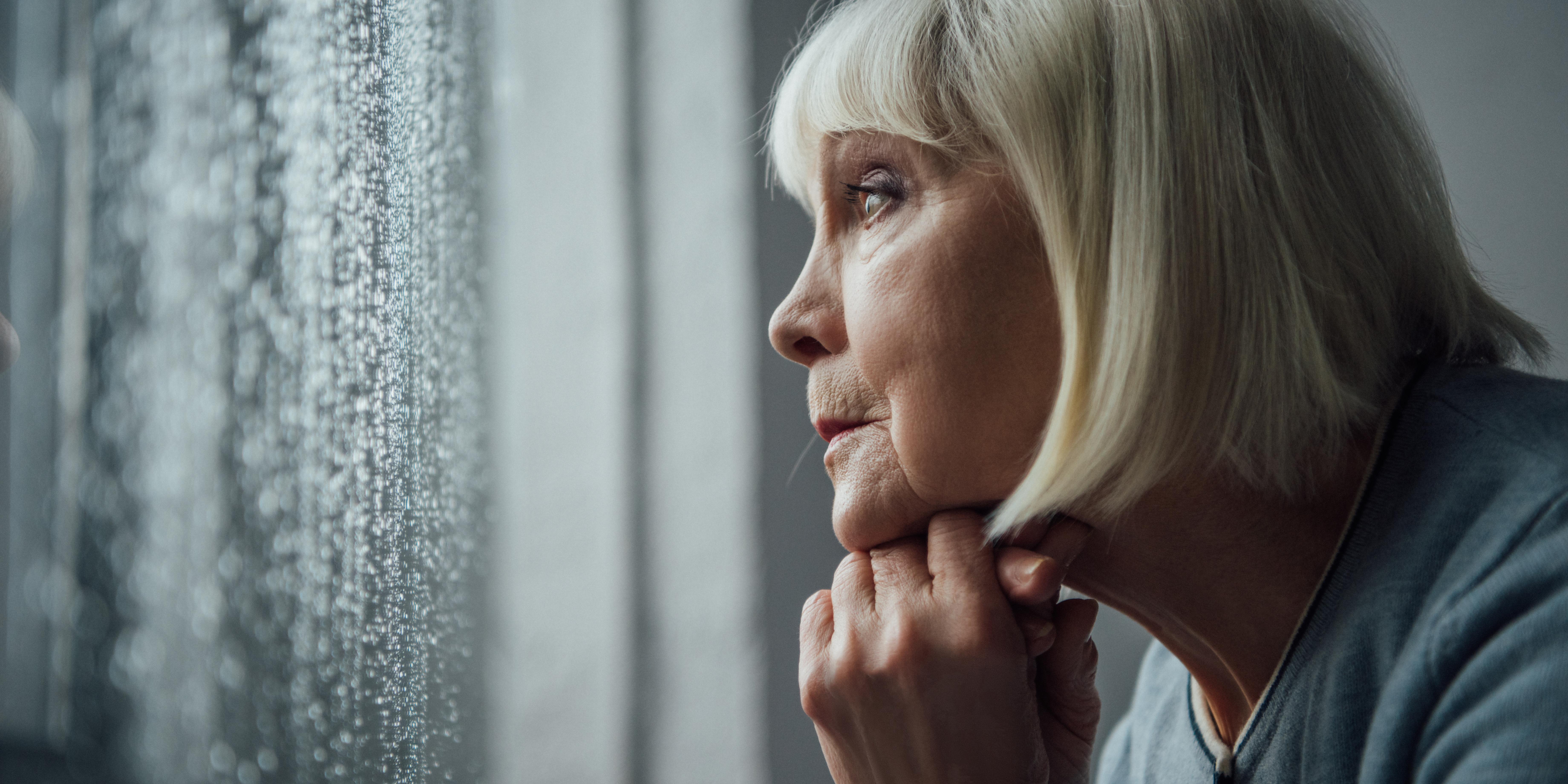 depressive Seniorin
